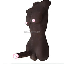 Factory half body torso male sex doll big black cock for women