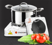 Cnzidel Portable Single Electric Hot Plate Hob Kitchen Cooker Table Top Mobile Cook Plate 1000W
