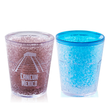 BPA Free Double Wall Ice Cup Freezer Gel Shot Glass Wine Cup