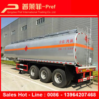 3 or 4 axles customized compartments 40000 45000 50000 liters fuel oil tank semi trailer for sale