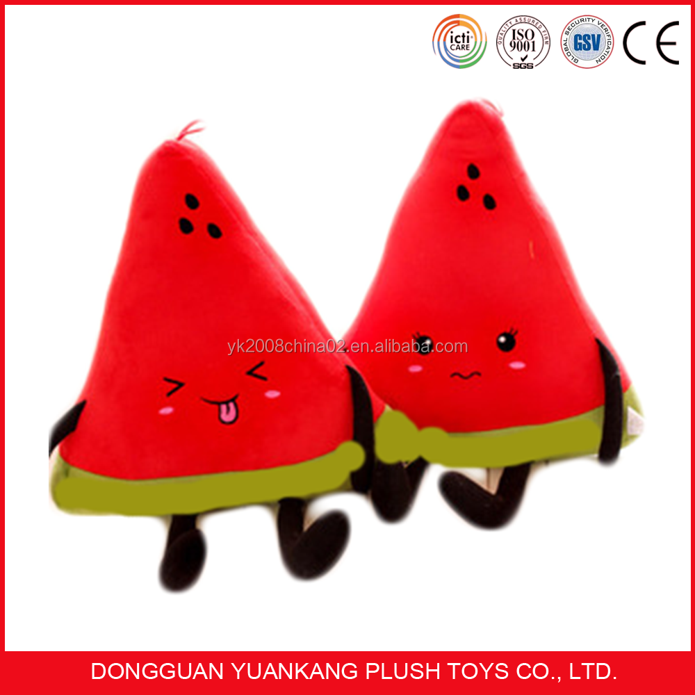 Stuffed cusotm watermelon toy plush fruit shaped plush elf toy