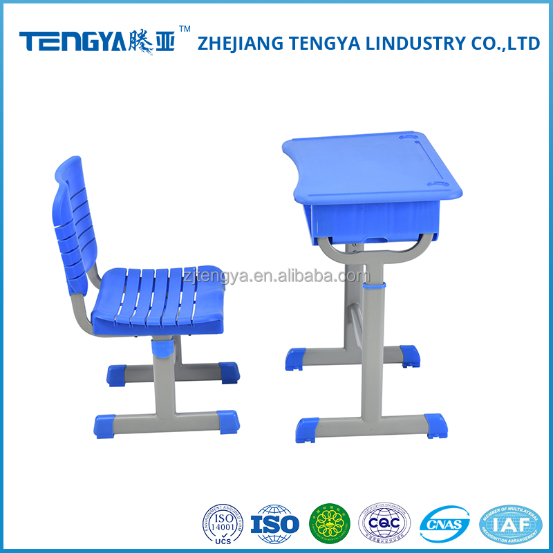 Promotional price used school furniture plastic tables and chairs