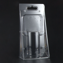 made to order exquisite clear fold plastic blister box clamshell packaging for vacuum cup