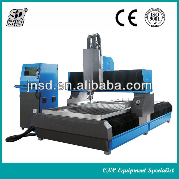 High efficiency multi function heavy duty stone marble granite drilling milling cutting cnc stone cutting machine