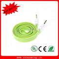 3.5mm Male to Male Flat Audio Extension Cable - fruit green + White