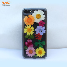 Ndhouse Hot Selling Real Flower For Iphone 7 Cases Protect Transparent