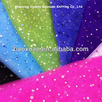 100%polyester fabric Sequin rainbow tulle fabric for tutus
