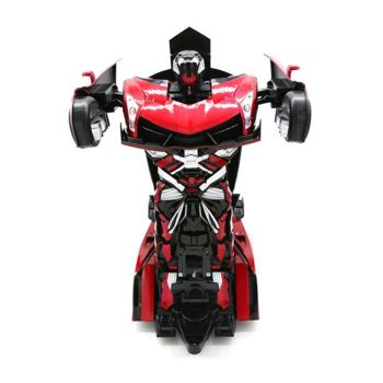 043667b-2.4G RC Stunt Robot Remote Control Deformation Flash Robot