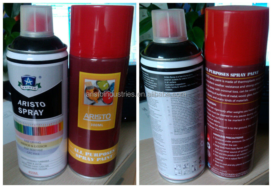 Colorful All Purpose Spray Paint Solvent base / Alchol base/ Water soluable base spray paint