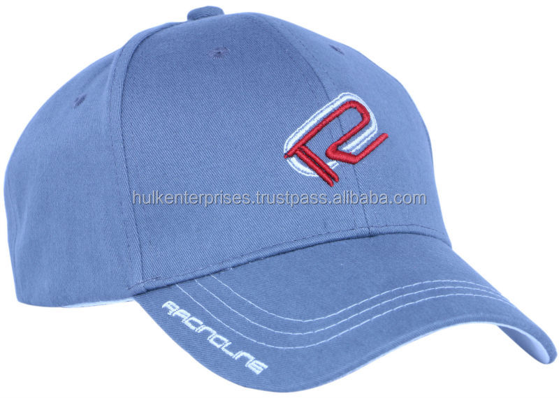 100% Twill Brushed Heavyweight Cotton Baseball Cap, 6-Panel Baseball Cap, Plain Blue Baseball Cap
