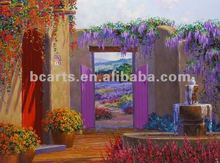 BC12-0060 Beautiful Landscape Knife Oil Painting with Amazing Color