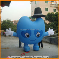lovely inflatable cartoon model, smile cartoon promotion toy