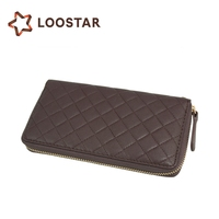 Best Seller Chocolate Color Purse Cheap 2015 Trend Long Leather Coin Wallet for Women Wholesale