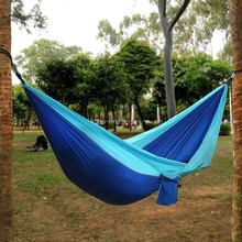Woqi High Quality Factory Customize 2 Person Outdoor Camping 210T Ripstop Nylon Parachute Portable Hammock
