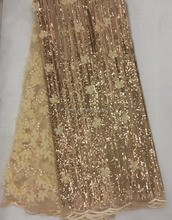 New style 3d net lace bridal material sequins embroidered evening dress fabric J894-4