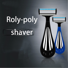 new wholesale market shaver 2016 innovative products shaving safety men razor with Roly-poly handle