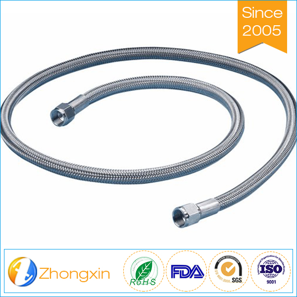 Resistance high working pressure ss 304 braided stainless steel industrial ptfe hose assembly