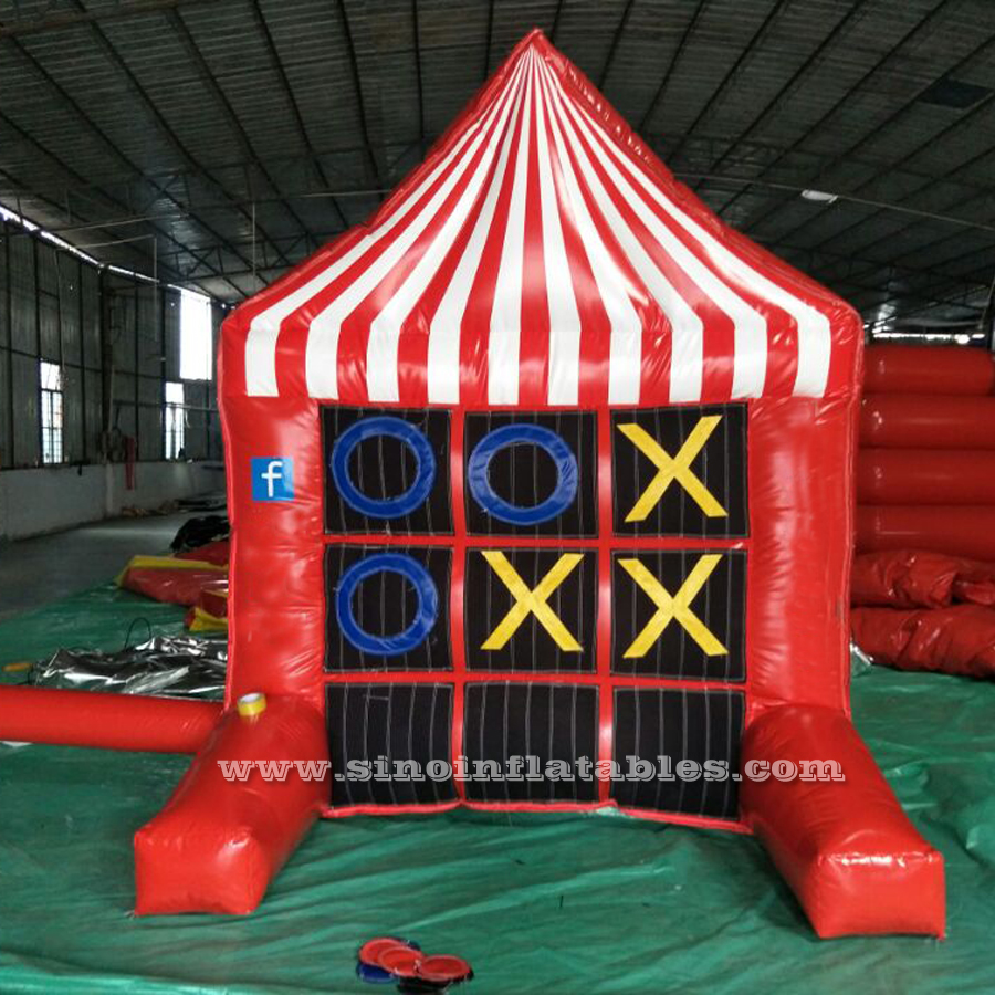 Double side <strong>inflatable</strong> 4 spot game and tic tac toe for kids and adults sport interactive fun