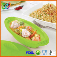 Factory wholesale silicone vegetable steamer with lid