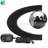 High end gift C shape base 3 inch floating globe gift for basketball player