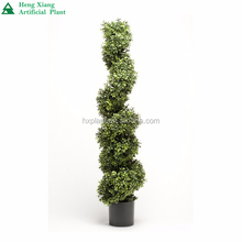 6ft Artificial Green Boxwood Spiral Potted Topiary Trees on sale