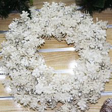 Indoor or outdoor artificial door hanger wire forms twig wreath