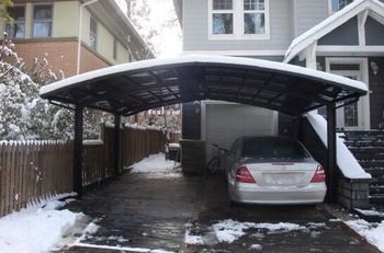 All weather glass polycarbonate covering carport aluminum car canopy