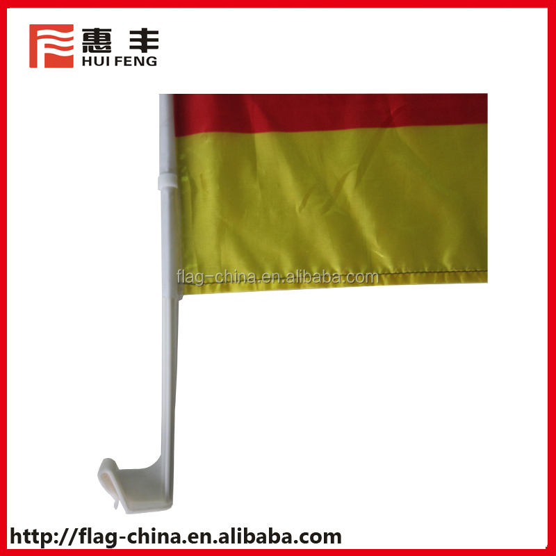 Germany car flag plastic car window flag poles holders for promotion