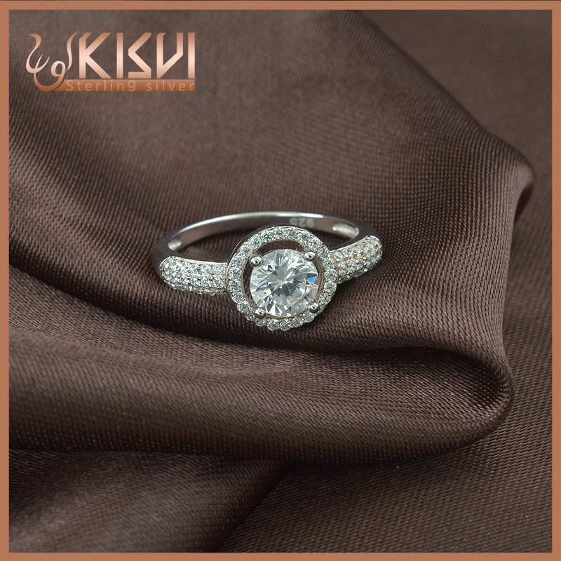 big popular diamond rings 925 sterling silver with great price