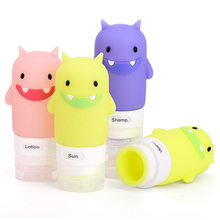 China Suppliers TSA Approved Mini Silicone Travel Bottle Set, Cartoon Silicone Shampoo Bottle