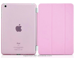 wholesale for ipad mini 3 smart cover with magnet and clear back cover