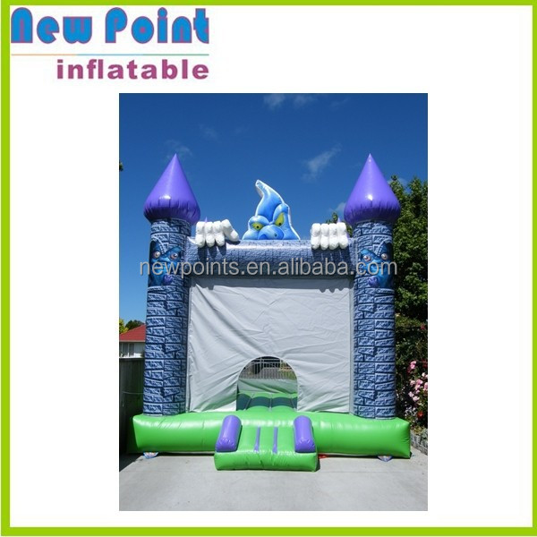 Blue playground inflatable castle bouncer, jumping castles