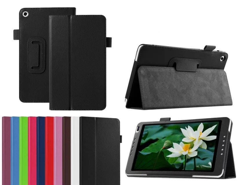 Flip Litchi Grain Leather Stand Cover Case For Huawei Mediapad M1 8.0 S8-301W/<strong>U</strong>