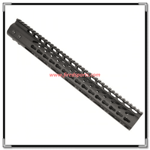 MTS0121-15--Hot Sell High Quality ar15 15 Inch Keymod Free Float quad rail Ultra Light Fourend with Monolithic Top weaver Rail