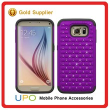 [UPO] New Arrival 3D Giltter Diamond Hybrid Soft TPU Protective Phone Case for Samsung Galaxy S7 edge