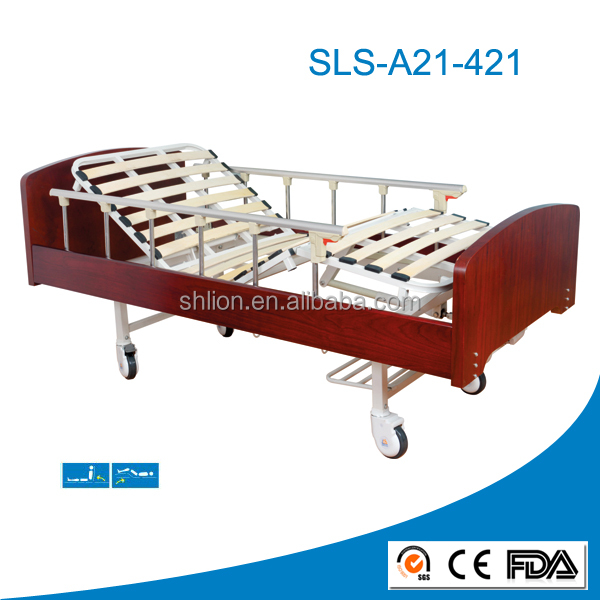 2 cranks manual home care nursing medical bed with CE