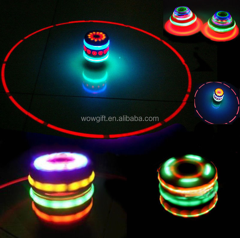 2017 Laser Colorful Flash Toy Music Gyro Spinner LED Light Spinning Toy For Kids Spinning Top