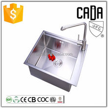 modern designs single 304 corner kitchen sinks stainless steel for hotel with faucet