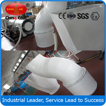 Dust remover for coal mine with Pneumatic adjustment dust control ventilation duct