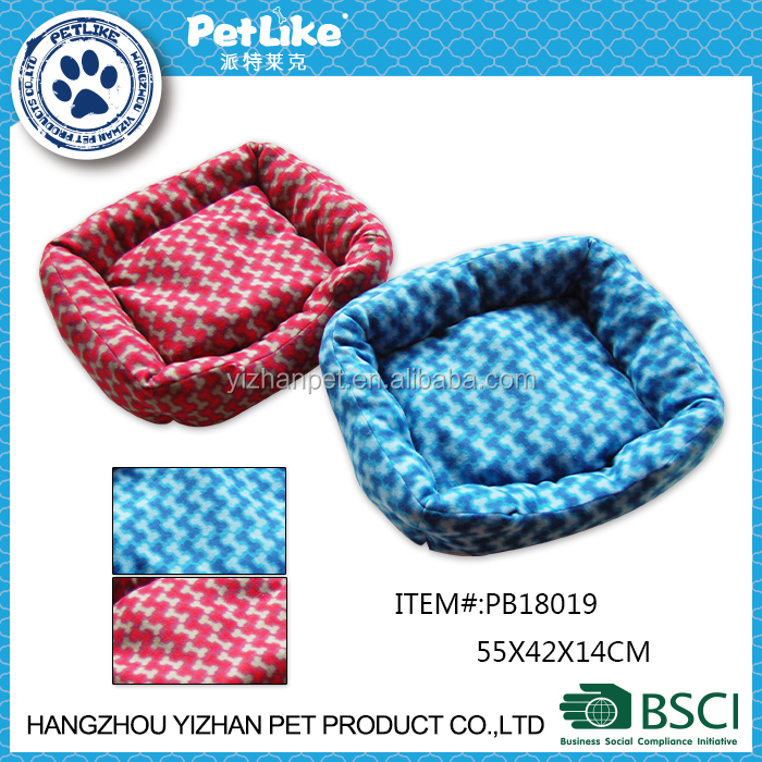 China fleece colorful dog ped with soft material