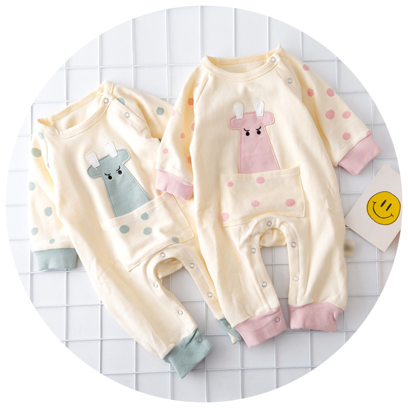 S33223W New Design Baby Clothes High Quality Printed Long Sleeve Velvet Baby Romper
