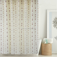 "Water Repellent Fabric Shower Curtain,Polyester Printing Bathroom Shower Curtain Wholesale shower curtains 72x72"" Bead up"