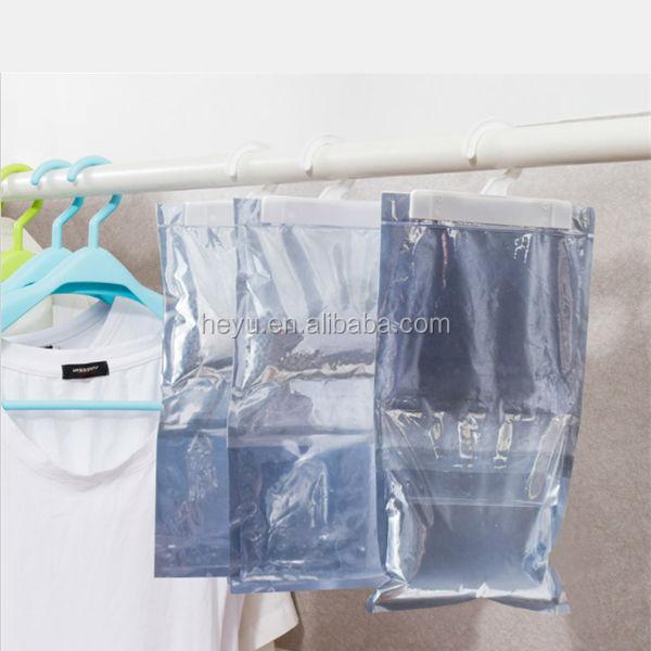 Calcium chloride beads hanging dehumidifier moisture absorber bag