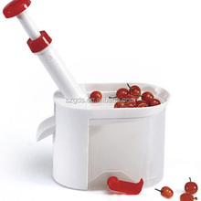 Good quality big volume Cherry Pitter grape Corer/stone Remover Plastic handle Cherry Pitter with container