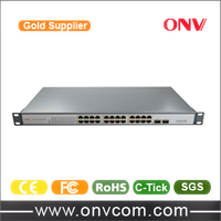 POE Camera Hikvision IP Camera Adapter , Rack mount 24 Port Fiber Network Switch/24port POE Switches