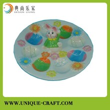 Ceramic Rabbit Design Plate Dishes for Easter
