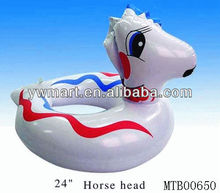 Kid inflatable horse swim ring white