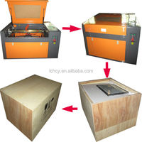 wine bottles/glass cups/wood pen laser engraving machine FL-460 with rotary