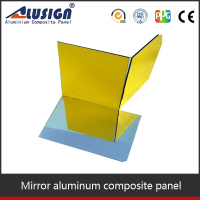Wall decoration panel PVDF coated ACP mirror glass price