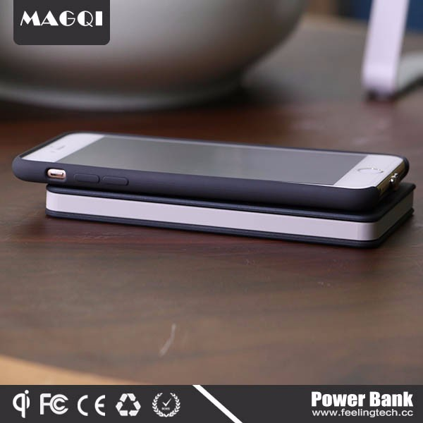 2017 innovation magnetic induction qi wireless charger Power Bank
